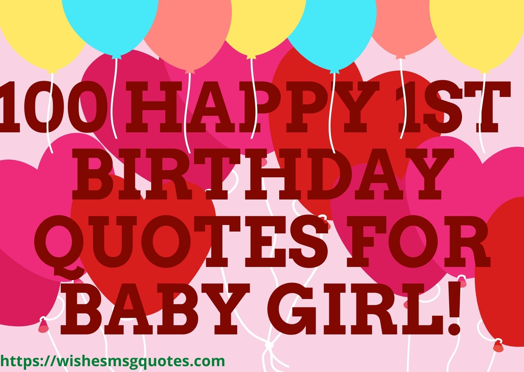 100 Happy 1st Birthday Quotes For Baby Girl
