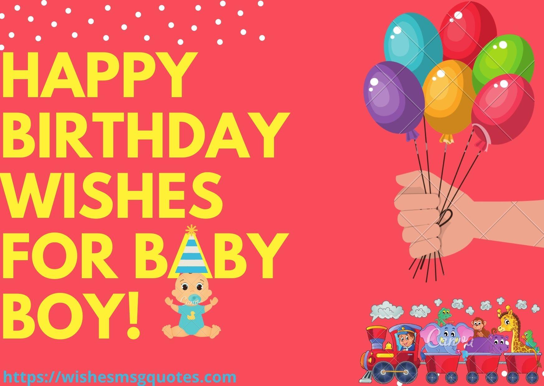100 Happy Birthday Wishes For Baby Boy