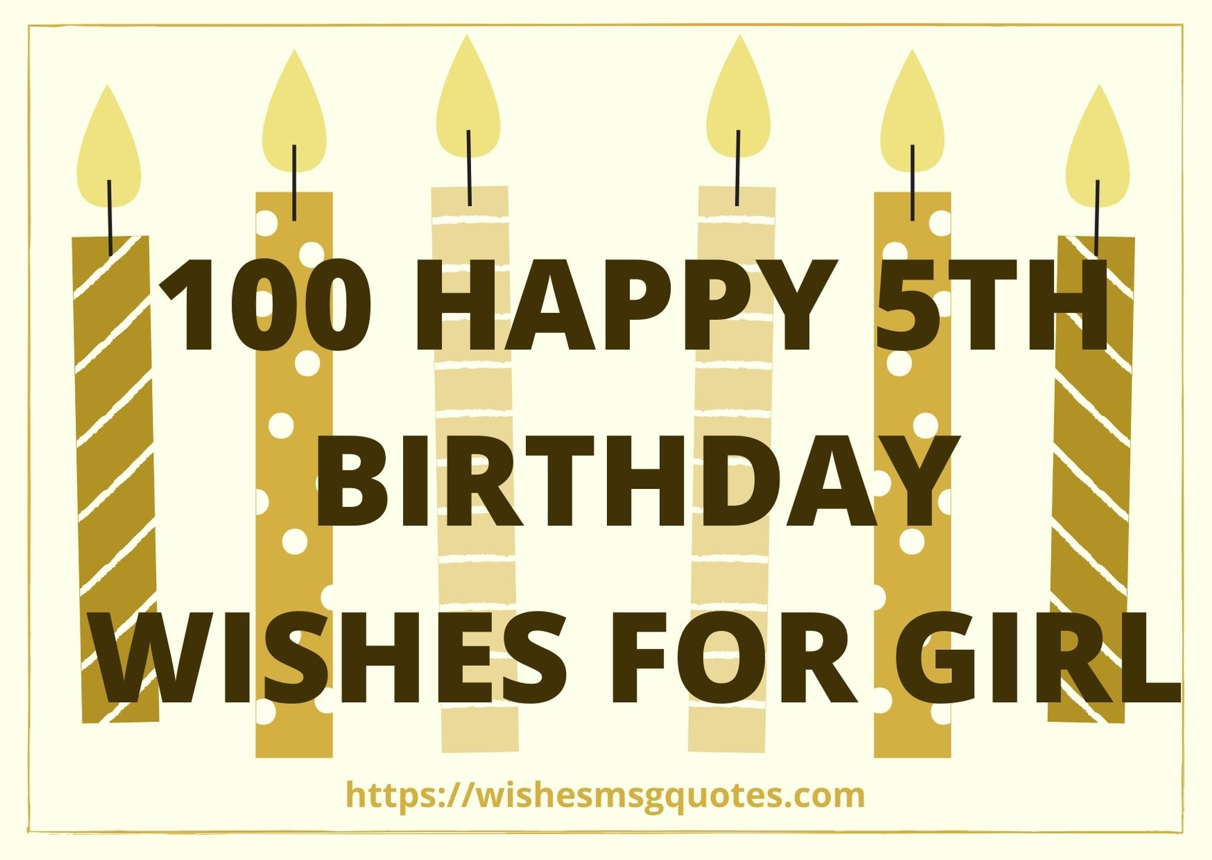 100 Happy 5th Birthday Wishes For Girl