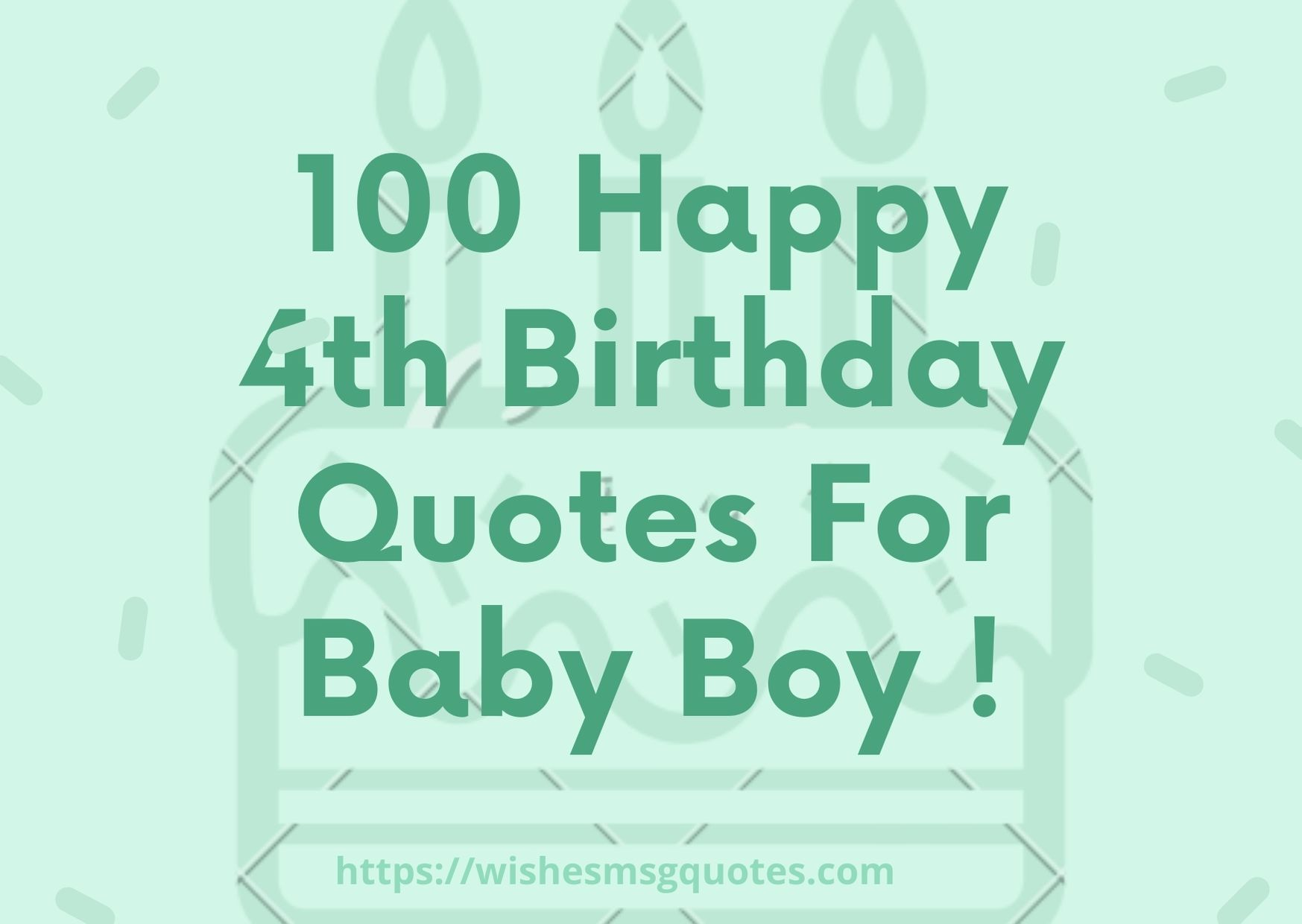 100 Happy 4th Birthday Quotes For Baby Boy