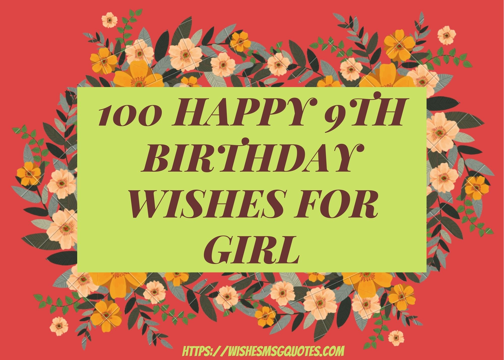 100 Happy 9th Birthday Wishes For Girl
