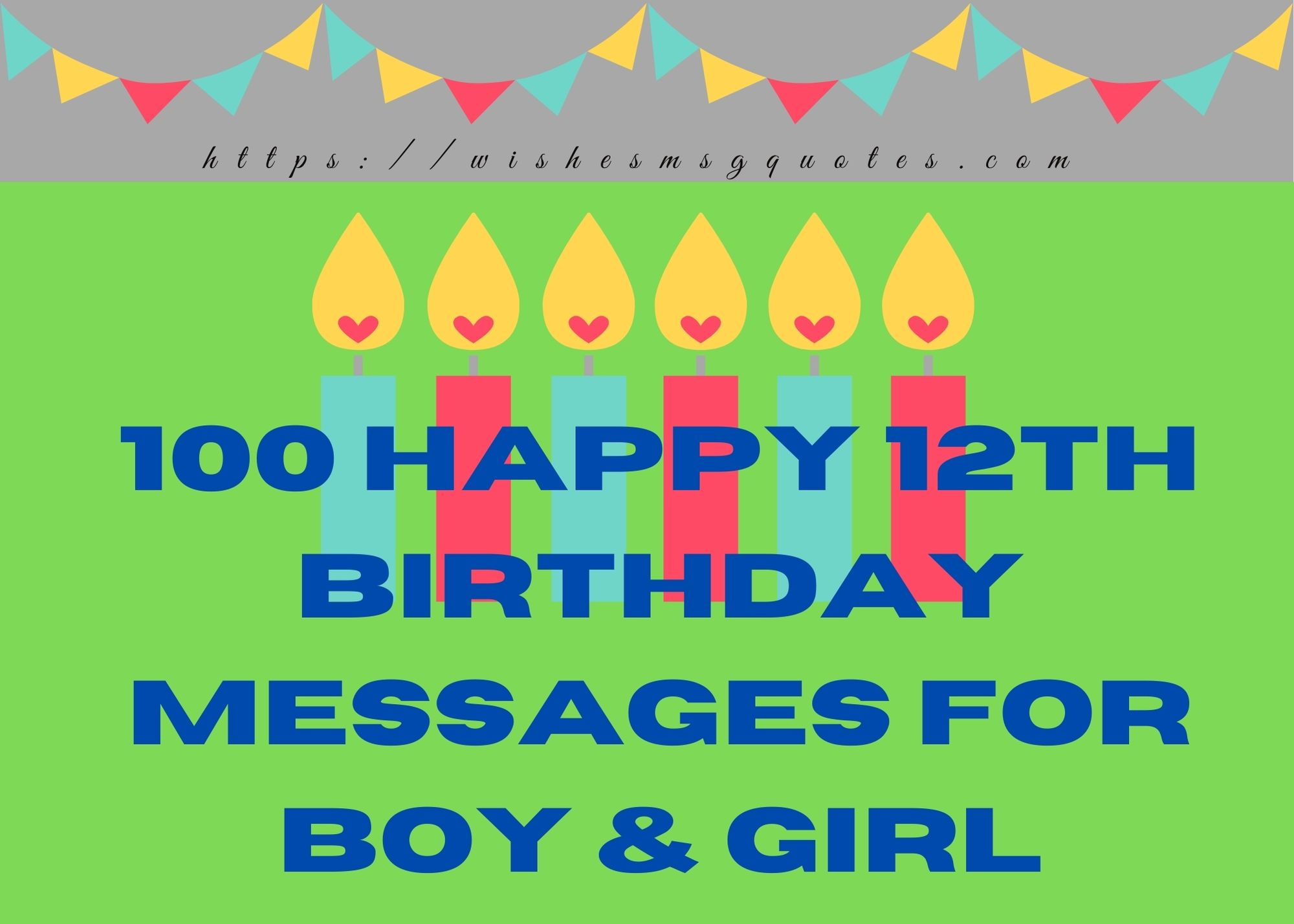 100+ Happy 12th Birthday Messages For Boy And Girl