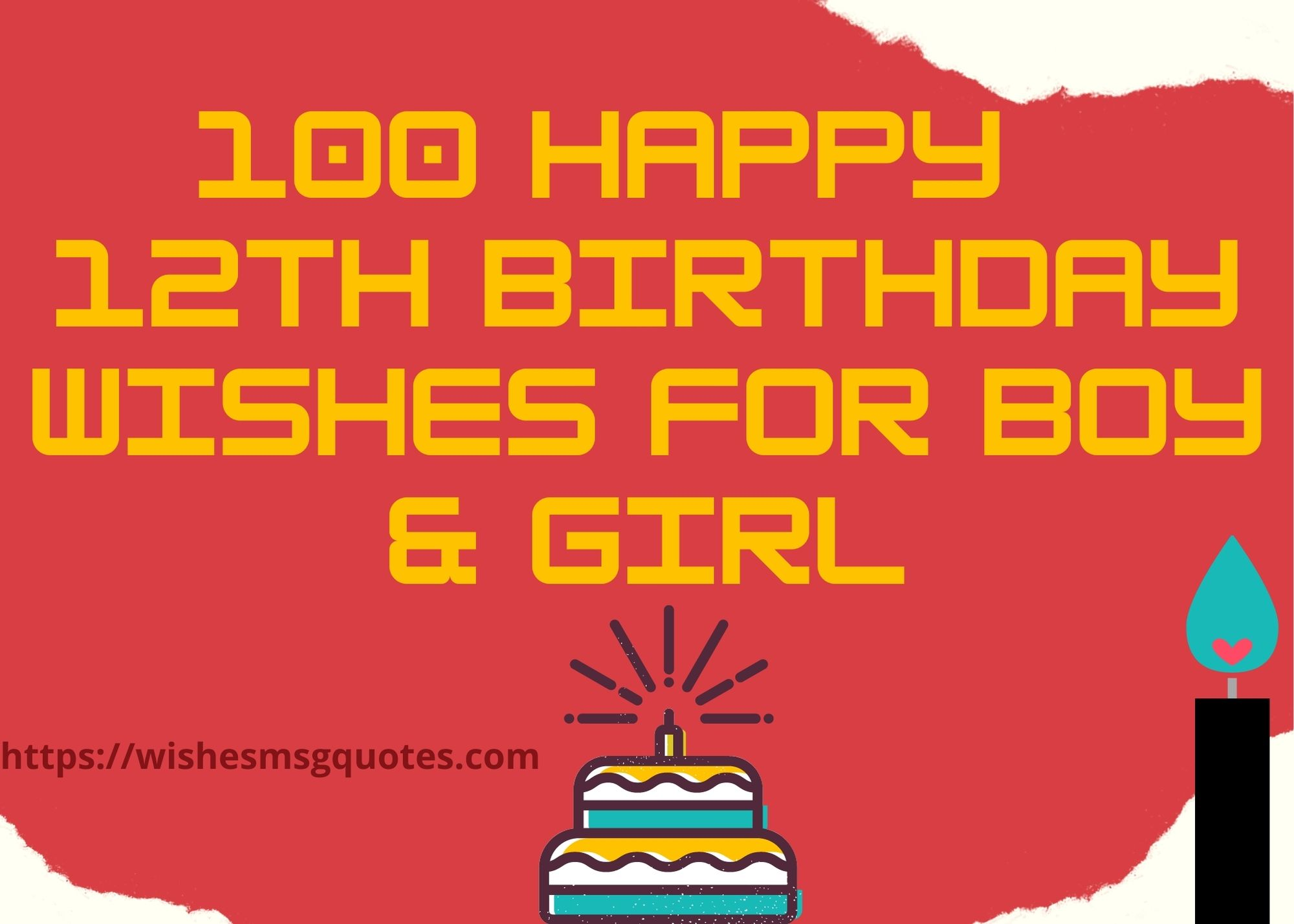 100+ Happy 12th Birthday Wishes For Boy And Girl